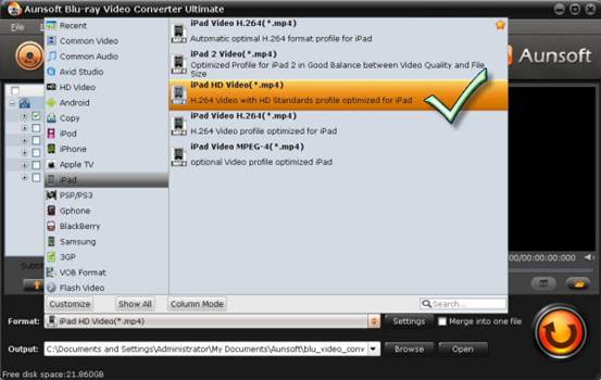 convert/transcode Blu-ray/DVD to MP4