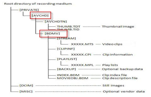 avchd-structure-tree-list