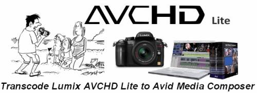 lumix avchd to media composer