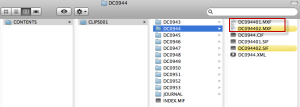 canon cf folder on mac