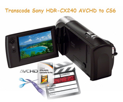 how to connect sony hdr-cx240 to computer