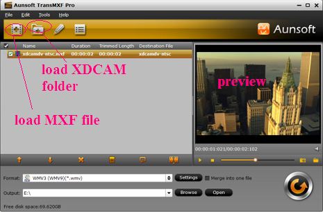 View and play XDCAM MXF file with Media Player Classic