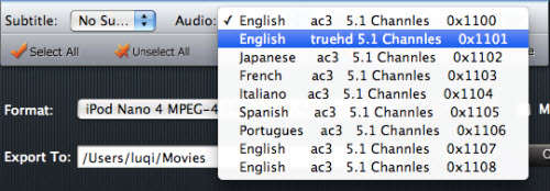 Blu-ray Ripper for Mac Tutorial, Audio