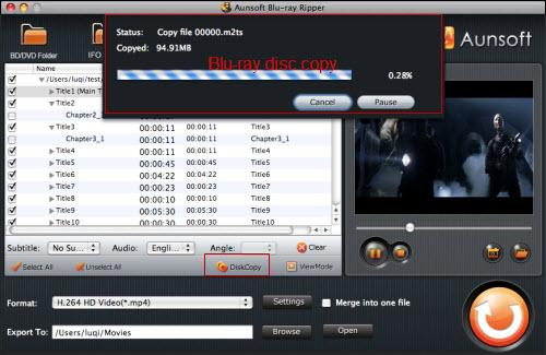 Blu-ray Ripper for Mac Tutorial, Diskcopy