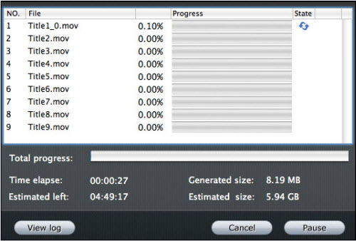 Blu-ray Ripper for Mac Tutorial, Running