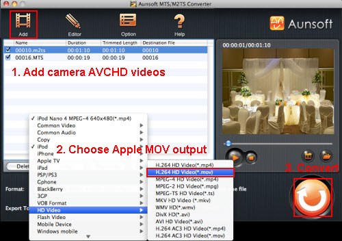 Present Wedding Video with LCD Projector, AVCHD M2TS Apple MOV Wedding