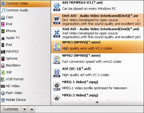 Convert MTS/M2TS to Windows Media Center, MTS Media-center3