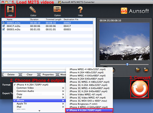 Convert M2TS Videos to iPhone 4, M2TS iPhone 4 720p HD