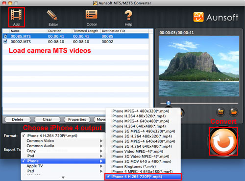 Convert MTS to iPhone 4 on Mac, MTS iPhone 4 Mac MP4