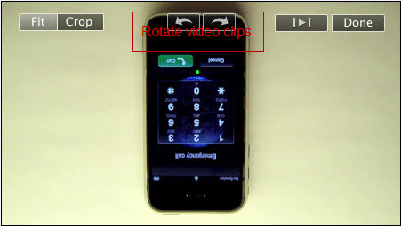 Rotate/Flip video with iMovie