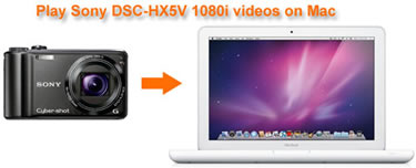 Play Sony DSC-HX5V 1080i Videos on Mac, Play AVCHD Sony HX5V Mac