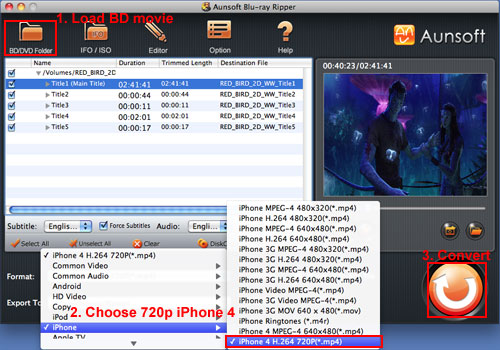 Convert Blu-ray Movies to 720p HD iPhone 4, Blu-ray iPhone 4 MP4 Global