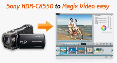 Edit Sony HDR-CX550 MTS in Magix Video, HDR CX550 to Magix Video