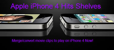 Merge/Convert Video Clips to iPhone4, Merge Convert Video to iPhone 4
