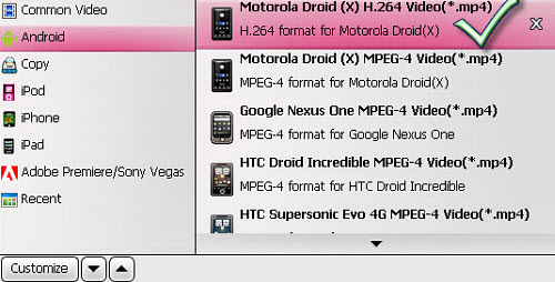 Convert TiVo to Droid X