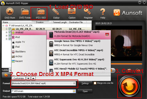 DVD ISO to Droid X MP4 Mac