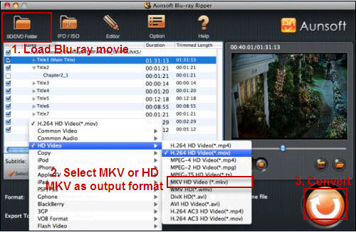 Convert Bluray to MKV Mac