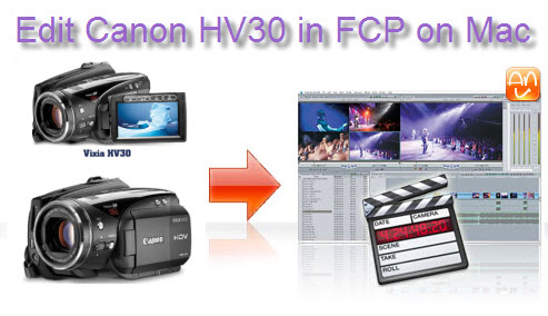 Edit Canon HV30 HDV FCP Mac