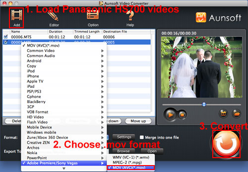 HDC-HS700 Video MOV iMovie