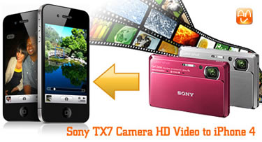 Sony TX7 MTS to iPhone 4
