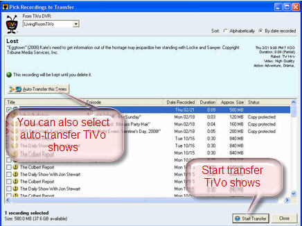 Tivo to PC Using Tivo Desktop Software