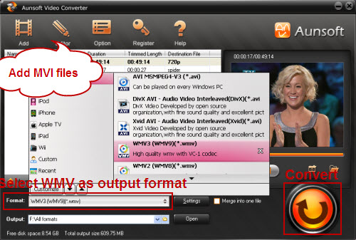 MVI to WMV Converter - Convert MVI files to WMV for Windows Media Player - AVCHD to ProRes