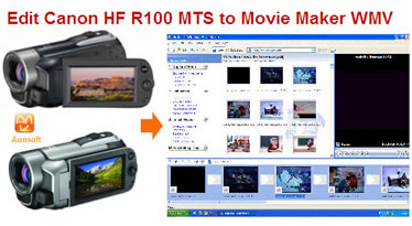 edit canon hf r100 mts movie maker