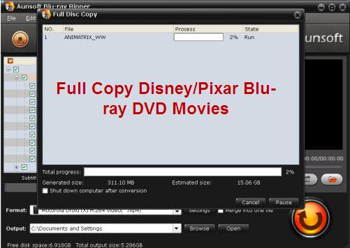 Backup/rip/Copy Kids Disney/Pixar Blu-ray DVD Movies to Hard