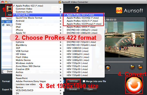 video prores mov powerpc g5