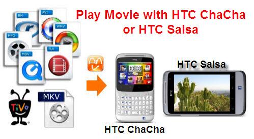 Convert/Play TiVo/MKV/M2TS/VOB/EVO Videos to HTC ChaCha and HTC Salsa
