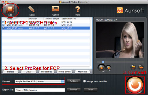convert gh2 avchd to fcp prores
