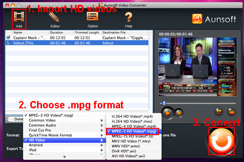 tivo to mpeg popcorn hour