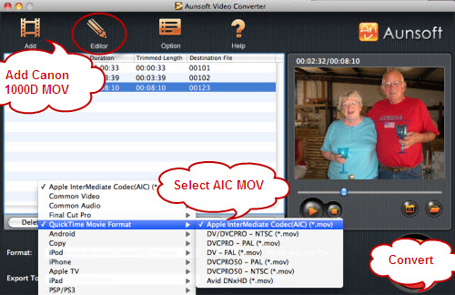 How to Convert Canon 1000D MOV to ProRes for Final Cut Pro