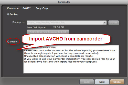 final mate for mac - capture avchd from camcorder
