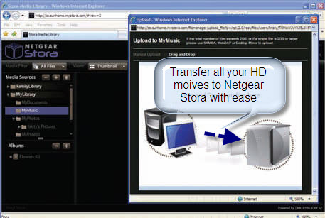 Enjoy Blu-Ray/DVD on Netgear Stora, Netgear Stora
