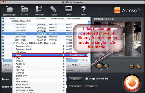 iMedia Converter for Mac Tutorial, Directly Copy
