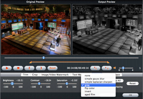 iMedia Converter for Mac Tutorial, Effect