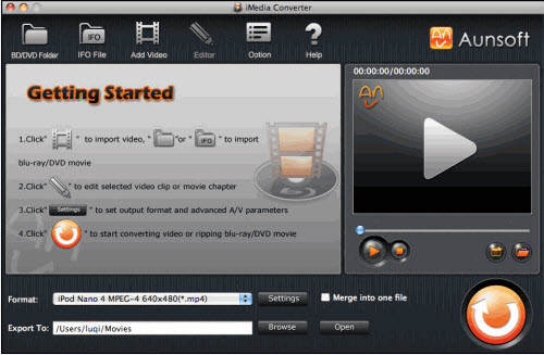iMedia Converter for Mac Tutorial, Main
