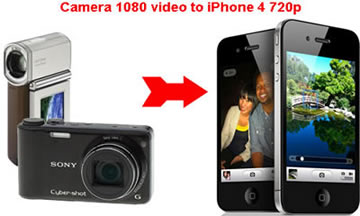 Convert 1080p/1080i AVCHD to 720p iPhone 4, Camera 1080 iPhone4 720