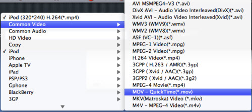 Convert MTS/M2TS to iMovie, Mov Format