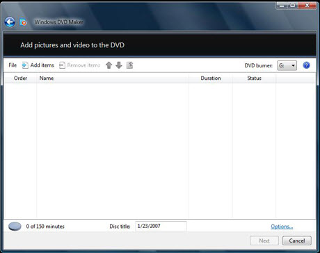 Burn TiVo to DVD with DVD Maker, DVD1