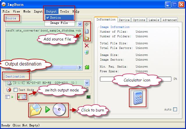 how to burn iso file to flash drive imgburn