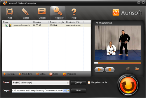Convert Video to iPad MP4, Video Converter Screenshot