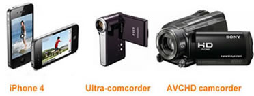 iPhone 4 720p Camera VS HD Camcorders, iPhone4 720p HD Camcorder