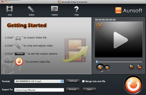 Video Converter for Mac Tutorial, Main