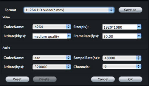 Video Converter for Mac Tutorial, Settings