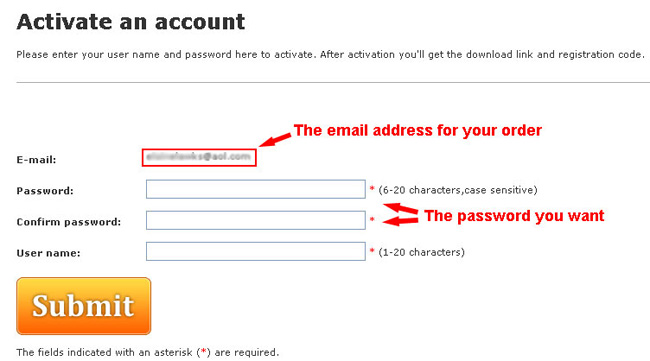 Account activation email open it and select activate your account