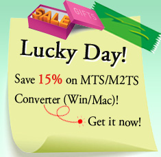 Save 15% on MTS/M2TS Converter (Win/Mac)!