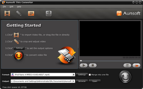 Aunsoft Tivo Converter Screenshot
