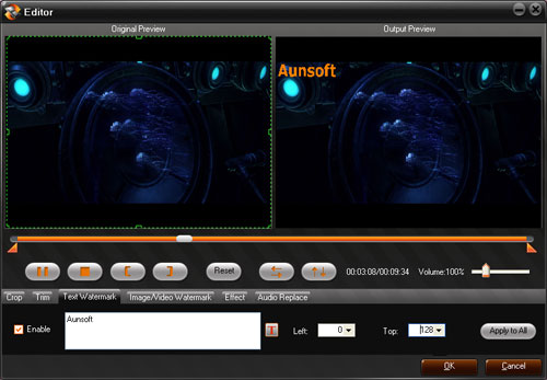 Aunsoft Video Converter Screenshot